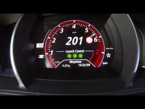 0-237 New Mégane RS EDC 2018 - Acceleration top speed