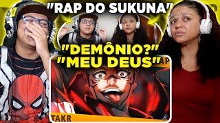 MINHA MÃE REAGINDO AO Rap do Sukuna (Jujutsu Kaisen) - O REI DAS MALDIÇÕES | Takeru e Felícia Rock