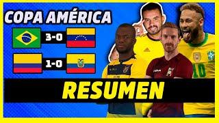 BRASIL GOLEA A SUPLENTES Y ECUADOR VUELVE A PERDER   RESUMEN COPA AMÉRICA 2021   DÍA 1