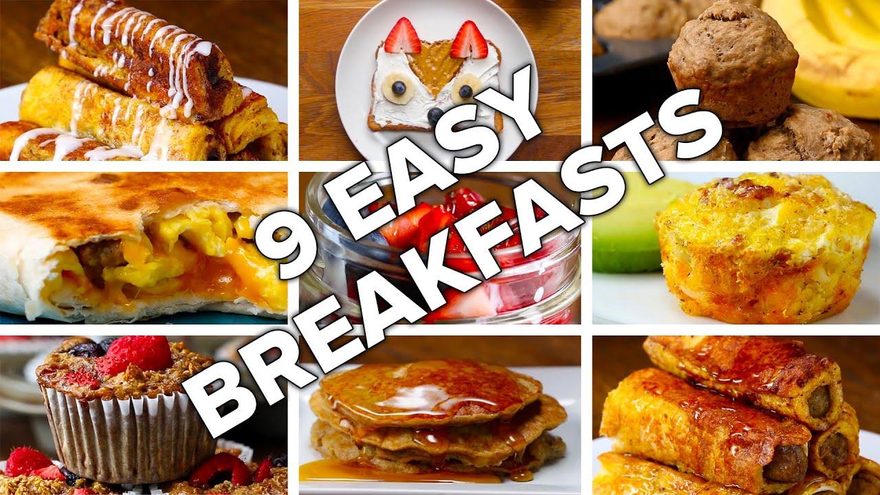 9 Easy & Delicious Breakfasts - YouTube