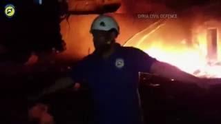 Сирия. Видео бомбардировки гуманитарной колонны ООН и Красного полумесяца.