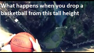 What happens when you drop a spinning basketball off a dam