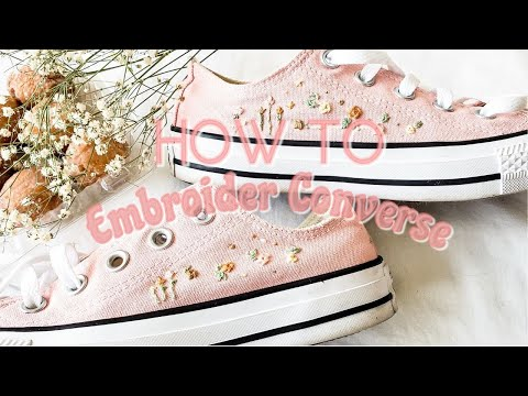 How To Embroider Roses on Converse- YouTube