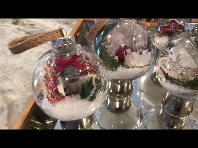 DIY Dollar Store Christmas Scenery Ornaments 2018