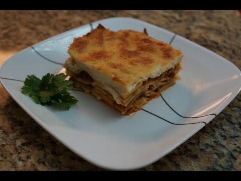 lasagna recipe (egyptian version) .....طريقة عمل اللازانيا