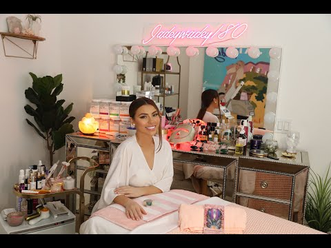 My Skincare Room Tour {Esthetician Collection + Tools + Crystals } Jadeywadey180