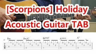 [Scorpions] Holiday Guitar TAB (Chords) 배우기