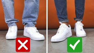7 Ways You're Wearing Sneakers Wrong
