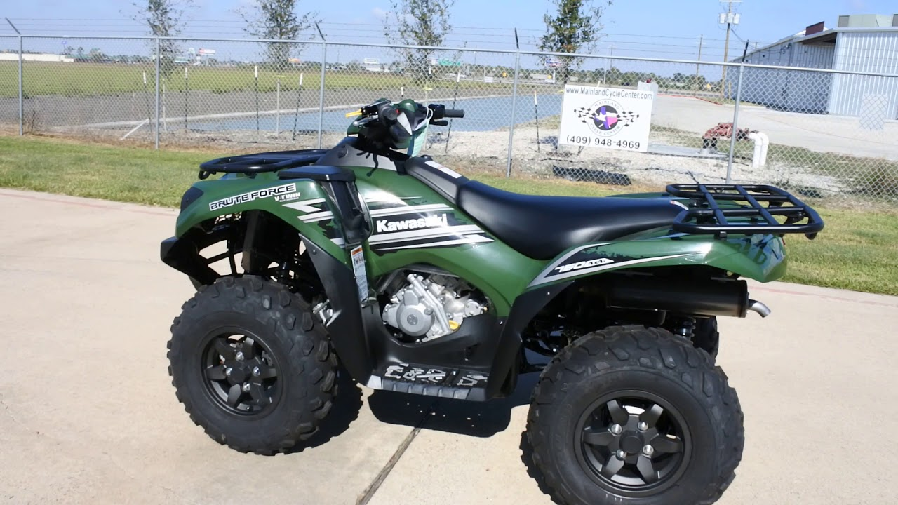 sale 7 149 2018 kawasaki brute force 750 timberline green overview and review [ 1280 x 720 Pixel ]