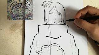 COMO DIBUJAR A KONAN - NARUTO / how to draw konan - naruto