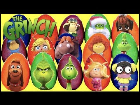 15 THE GRINCH Play-Doh Surprise Toy Eggs with Young Grinch, Cindy Lou & Max the Dog