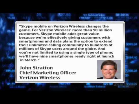 News Update: Skype Mobile Available on Verizon (NYSE:VZ) Smartphones in March