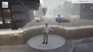 The Weather Channel Hurricane Laura immersive mixed reality storm surge explainer