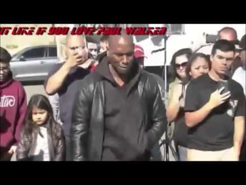 Tyrese My Best Friend Paul Walker Tribute Song Ft Ludacris & The Roots 2013 RIP