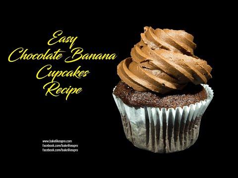 Easy Chocolate Banana Cupcakes Recipe