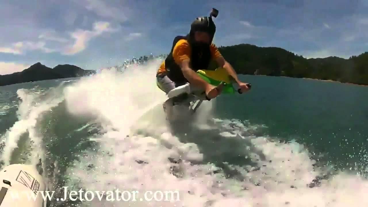 Stunts on the Jetovator. RIDE THE HOSE!