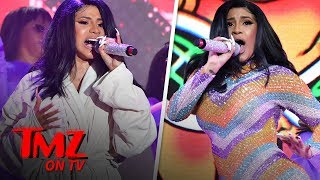 Cardi B Performs in Bathrobe at Bonnaroo After Outfit Splits | TMZ TV