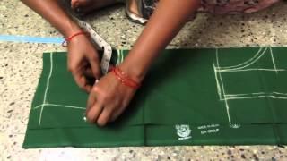 How To Cut Blouse In Cross Cutting In Telugu 69