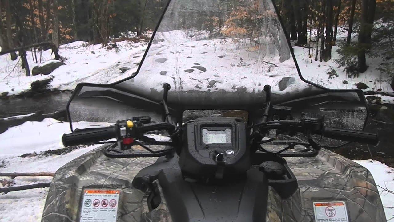 2016 Honda Rancher 420 >> HONDA RANCHER GETS A (PowerMadd) COBRA PROTECH WINDSHIELD - YouTube