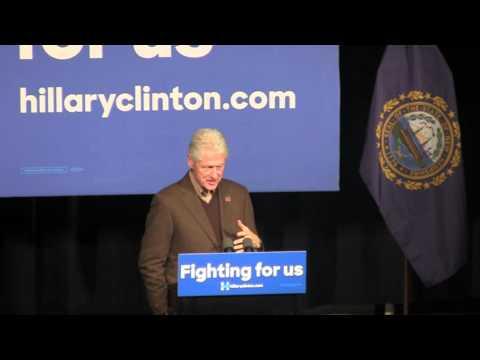 Bill Clinton Speaks in Exeter, NH