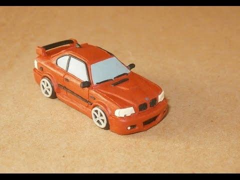 Как слепить из пластилина BMW M3. How to sculpt BMW from clay