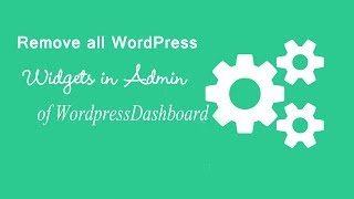 How to Remove all Widgets in Wordpress Dashboard