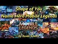 Parody Shape Of You Versi Nama Hero Mobile Legends