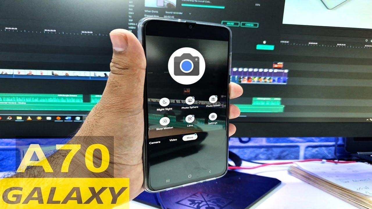 Install Galaxy A70 Google Camera - A70 Gcam vs Stock Cam Samples