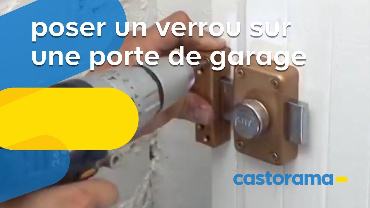 Poser Un Verrou Sur Une Porte De Garage Castorama Youtube