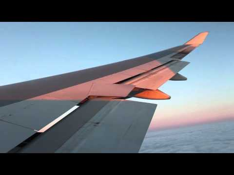 *breathtaking sunrise* British Airways B747-400 Singapore - London Heathrow