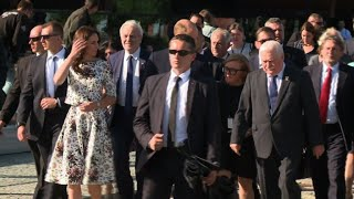 Poland: Kate and William meet Lech Walesa in Gdansk