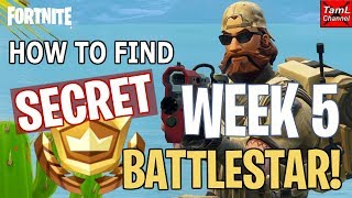 Fortnite: How to Find SECRET Week 5 Road Trip BATTLESTAR! (Season 5)