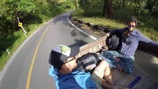 Влог Тайланд Путешествие своим ходом  автостопом,  режем папайю забором