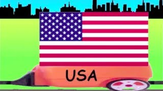 Learn Flag Train 1 - learning national flags of countries for kids