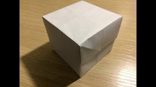 Как сделать из бумаги коробку с крышкой оригами своими руками без клея видео
