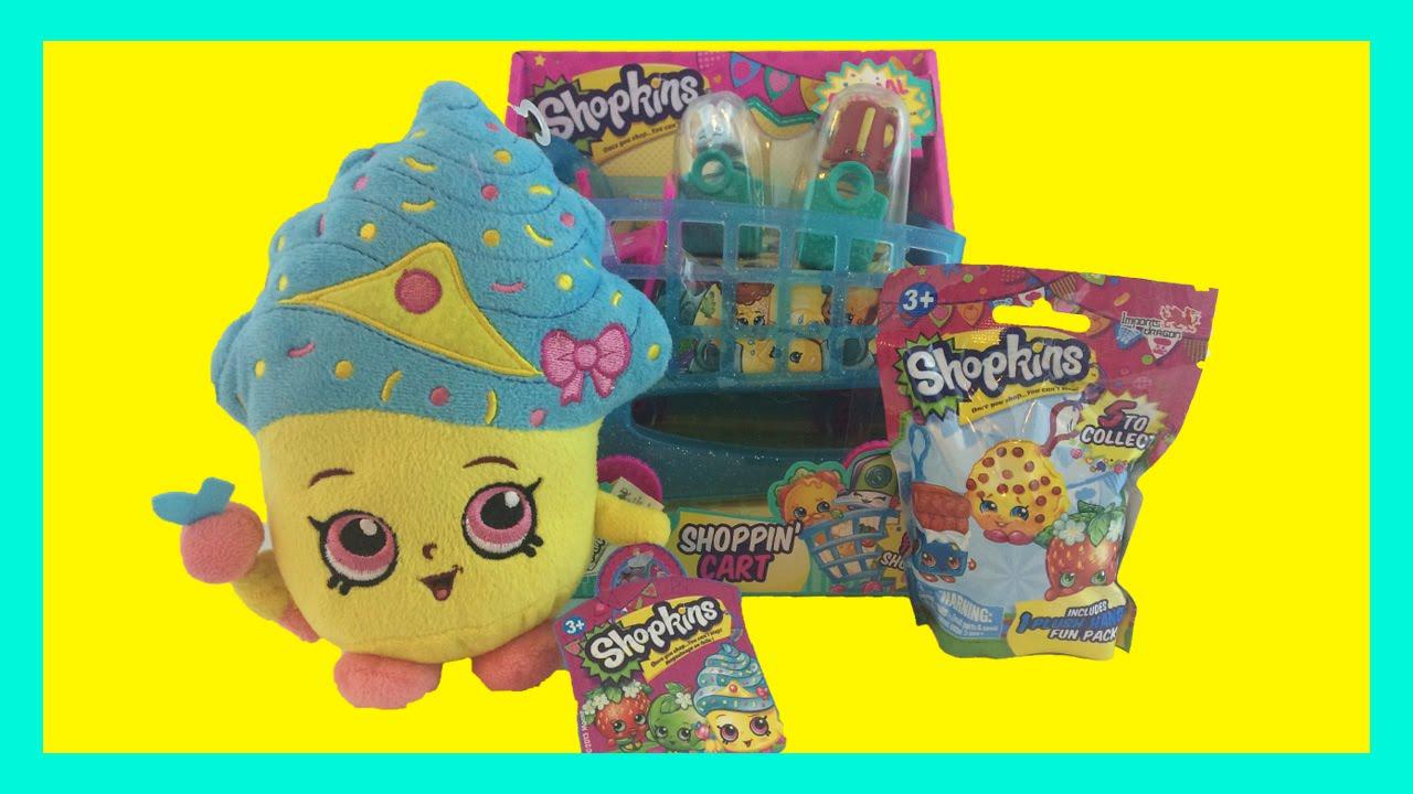 Meet Cupcake Queen Shopkins Plush Hangers Mystery Pack Opening