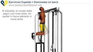 dominadas en barra ejercicios espalda
