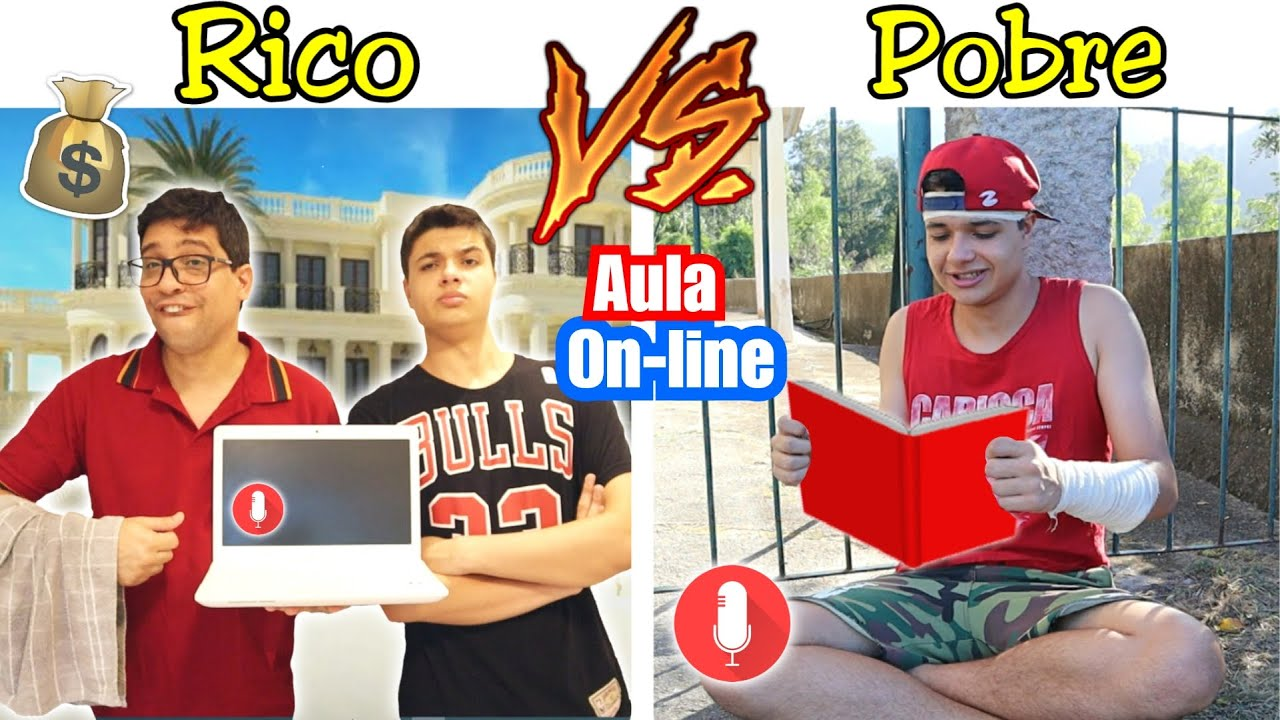 RICO VS POBRE NA ESCOLA #50 - AULA ONLINE !! (TIPOS DE ALUNOS)