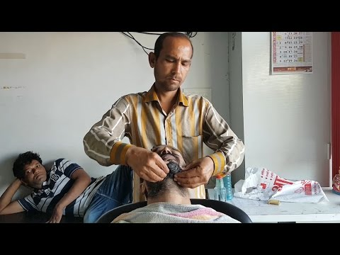 Head and shoulder massage with neck cracking