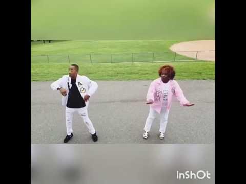 Sharon and Trooper Strolling to Bruno Mars alpha phi alpha aka