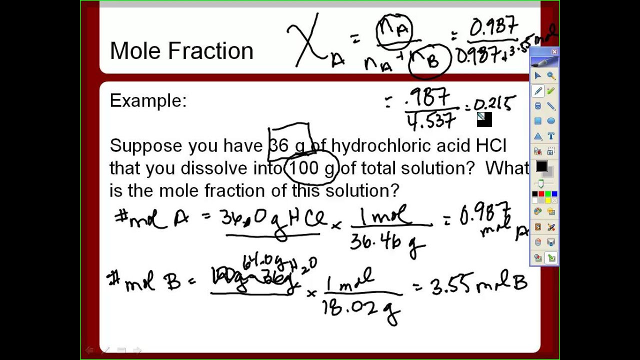 Mole Fraction And Ppm