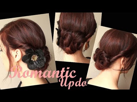 creative hairstyles romantic twisted
