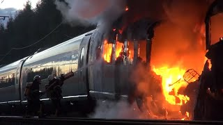 Strecke Frankfurt-Köln: Feuer bricht in ICE aus