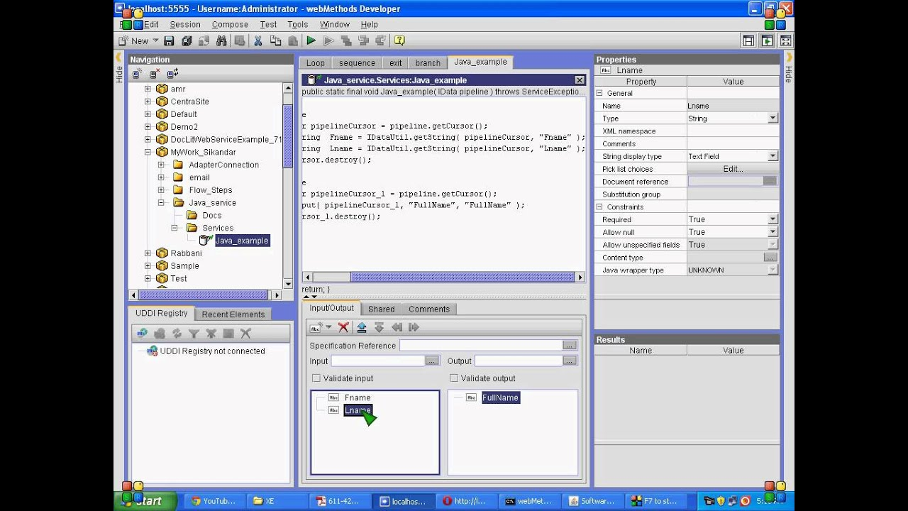 writing java service in webmethods