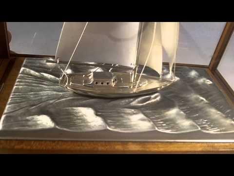 STERLING SILVER MODEL SHIP/YACHT