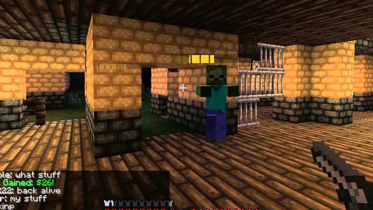 Minecraft zombie gun server YouTube