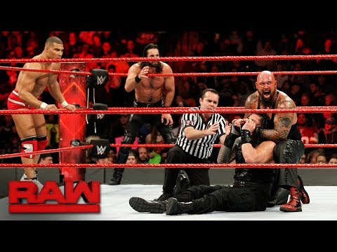 Roman Reigns, Seth Rollins & Jason Jordan vs. The Bálor Club: Raw, Jan. 8, 2018 thumbnail