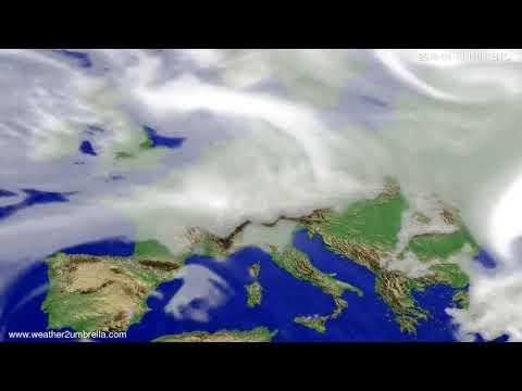 Cloud forecast Europe 2018-01-15