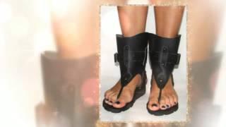 Женские сандалии-гладиаторы в римском стиле