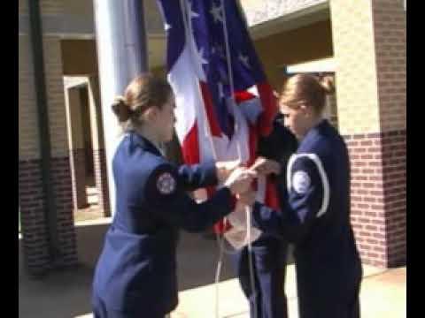 NAHS ROTC Flag Raising Ceremony